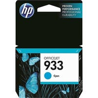 HP 933 Cyan Original Ink Cartridge (CN058AN)(Single Pack)