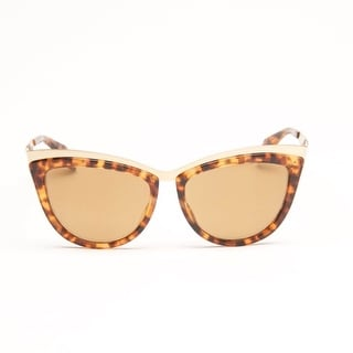 Gold Havana Cat Eye Sunglasses - havana gold