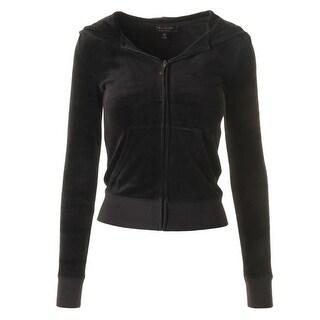 Juicy Couture Black Label Womens Velour Sequined Original Jacket - S