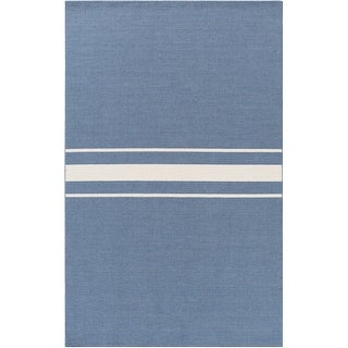 Hand-Woven Leiston Stripe Indoor Wool Area Rug