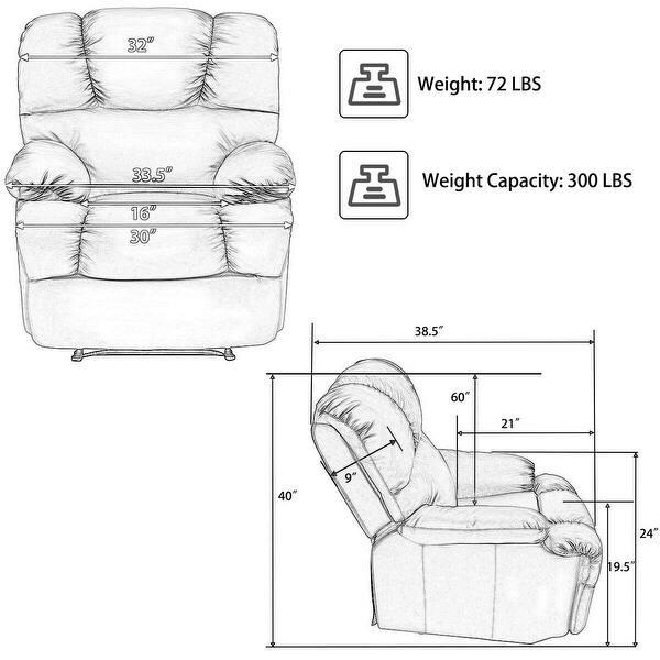 Shop Costway Recliner Massage Sofa Chair Deluxe Ergonomic