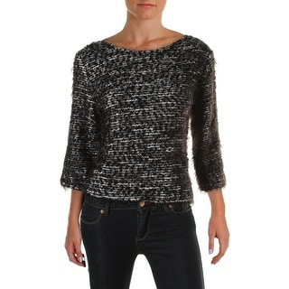 Vince Camuto Womens Pullover Sweater Eyelash Marled