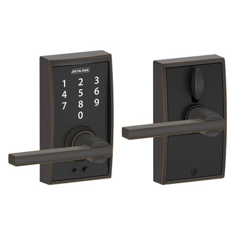 Schlage FE695-CEN-LAT Century Touch Entry Leverset with Latitude Lever - N/A