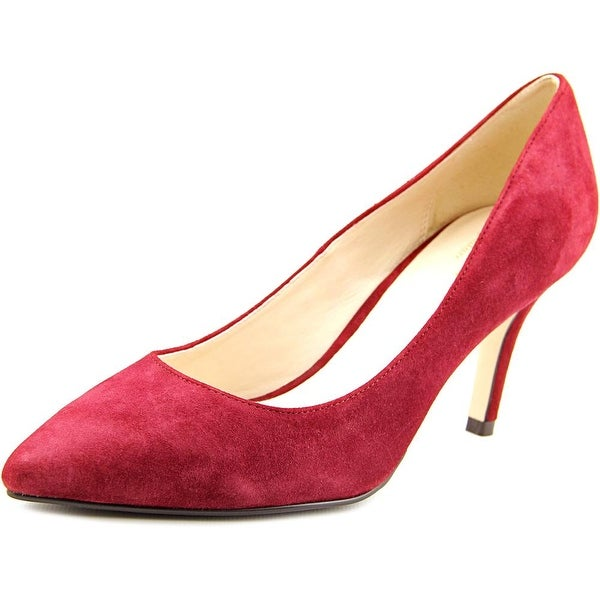 Cole Haan Juliana Pump 75 Women Pointed Toe Suede Burgundy Heels