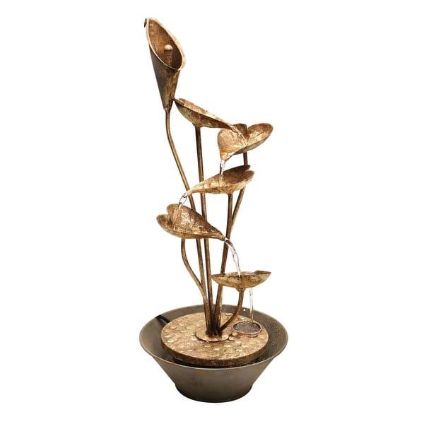 Shop Art Artifact Calla Lily Decorative Table Top Fountain