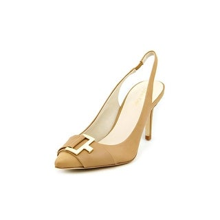 Calvin Klein Galo Women Pointed Toe Leather Slingback Heel