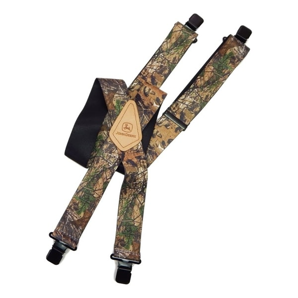 "John Deere Western Suspenders Mens 2"" One Size Camouflage - One size"