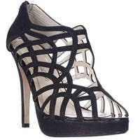 Caparros Merengue Strappy Platform Dress Sandals, Black Glimmer