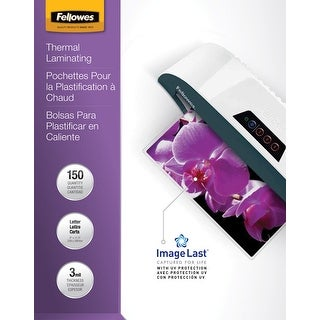 Fellowes ImageLast Laminating Pouches, Letter, 3 mil Thickness, Pack of 150