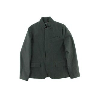 Kenneth Cole Reaction Mens Heathered Stand Collar Jacket