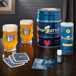 Brew Barrel Beer Making Kit and Engraved Beer Steins