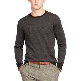Polo Ralph Lauren Pima Cotton Crewneck Sweater Charcoal Medium M