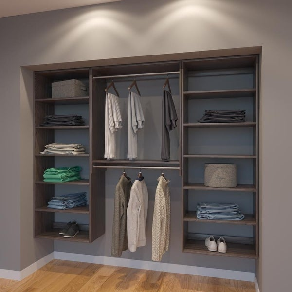 Modular Closets 7 5 Ft Closet Organizer System 90 Inch Style A