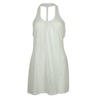 Miken Women's Burnout Dress Swin Cover ups - Cantaloupe