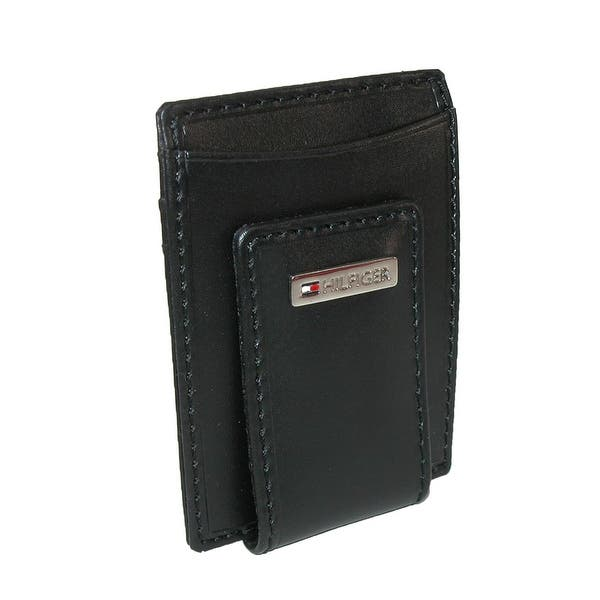 b22c55d8c Tommy Hilfiger Men's Leather Fordham Card Case Wallet with Money Clip - one  size