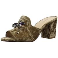 Nine West Womens Glasslipr Open Toe Casual Slide Sandals