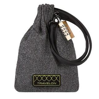 Travelon Anti-Theft Lockdown Bag - Locking Cut-Proof Travel Purse Handbag - Gray - Black