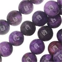 Dakota Stones Gemstone Beads, Purple Crazy Lace Agate, Round 6mm, 8 Inch Strand