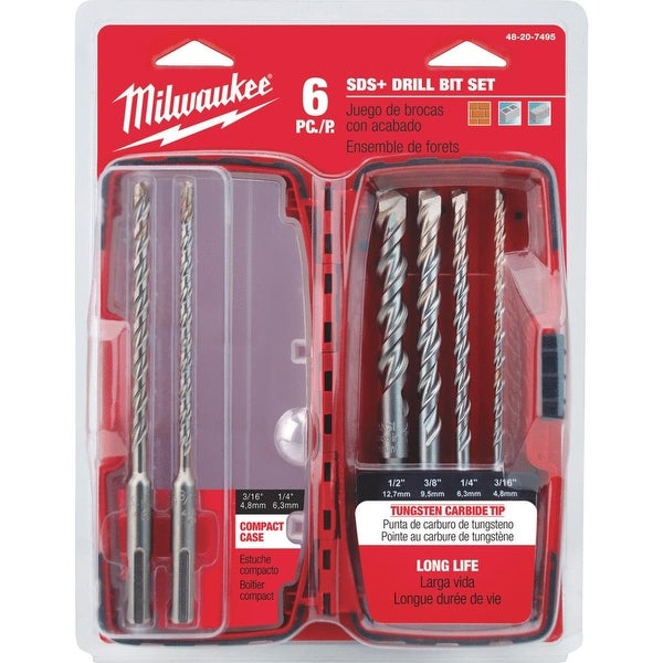 Milwaukee 6Pc Sds+ Drill Bit Set