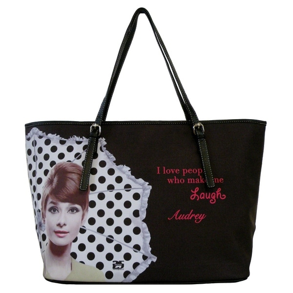e82cc1f87c Shop AFONiE - Audrey Hepburn Faux Leather Tote Handbag - Free Shipping On  Orders Over $45 - Overstock - 23071784