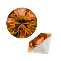 Swarovski Elements Crystal, 1028 Xilion Round Stone Chatons pp24, 36 Pieces, Topaz