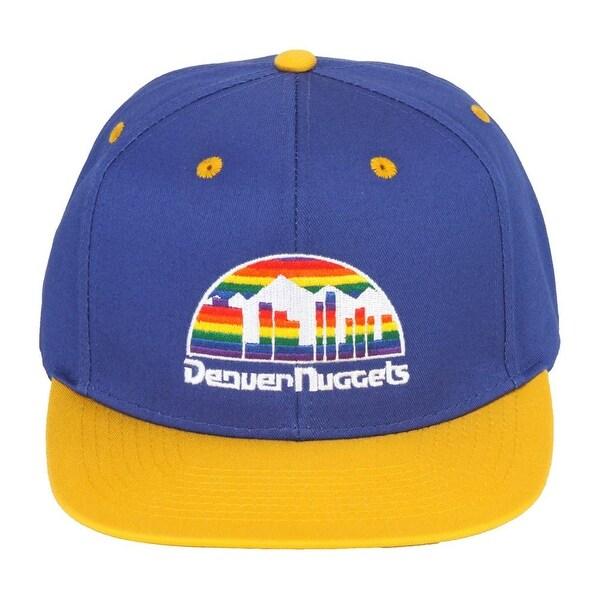 9f62841325c Denver Nuggets Blue Yellow Two Tone Snapback Adjustable Plastic Snap Back  Hat