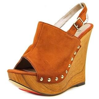 Luichiny M Pire Women Open Toe Canvas Brown Wedge Sandal