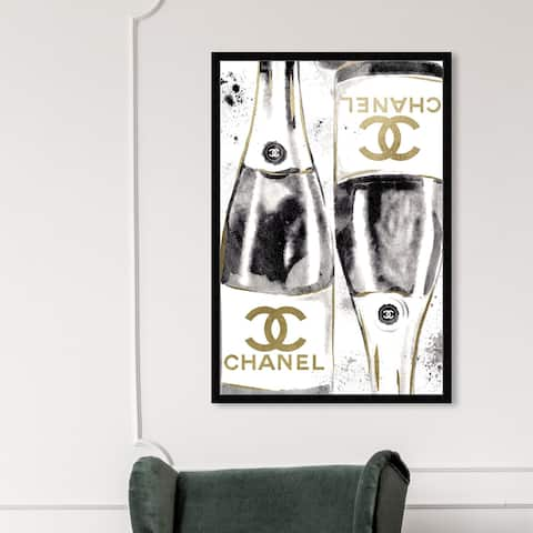 Oliver Gal 'Inkwash Champagne' Fashion and Glam Wall Art Framed Print Lifestyle - Gold, White