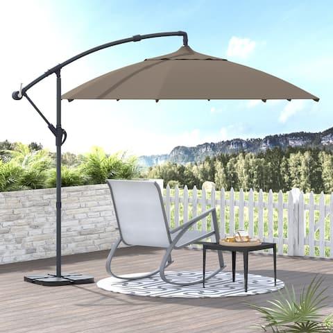 Corvus Vera 10-foot Offset Cantilever Hanging Canopy Outdoor Patio Umbrella