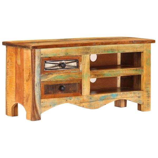 "vidaXL TV Cabinet 31.5""x11.8""x15.7"" Solid Reclaimed Wood"