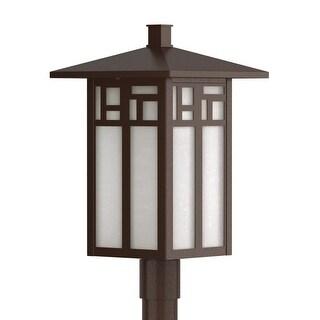 "Park Harbor PHEL3204 Weaver 18"" Tall 1-Light Outdoor Post Light - Chocolate Bronze - N/A"