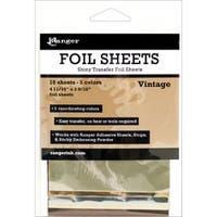 """Vintage 4.69""""X3.56"""" - Inkssentials Foil Sheets 4.69""""X3.56"""" 10/Pkg"""