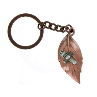 Firefly Serenity Leaf On The Wind Key Chain Pendant - Gold