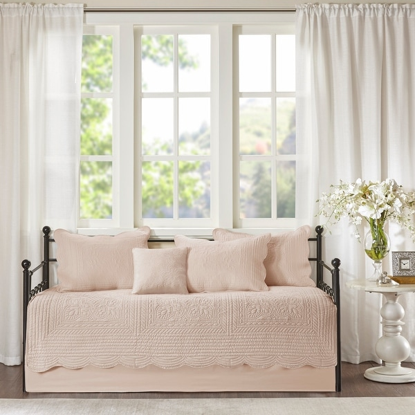 Madison Park Venice 6 Pieces Quilted Daybed Cover Set With Scalloped Edges 3-Color Option. Opens flyout.