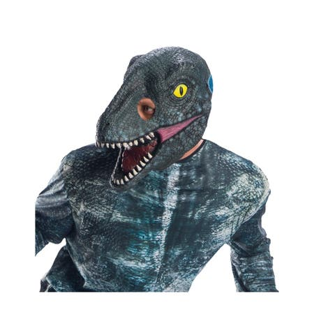Adult Jurassic World Blue Velociraptor Dinosaur 3/4 Mask - Standard - One Size