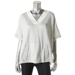 Tommy Hilfiger Womens Sweater Knit Contrast Trim