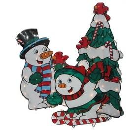 Lighted Three-Piece Snowmen Set