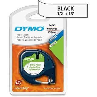 Label, Dymo Letra Tag, 2 Pack, Paper