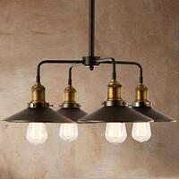 4 light barn black industrial chandelier