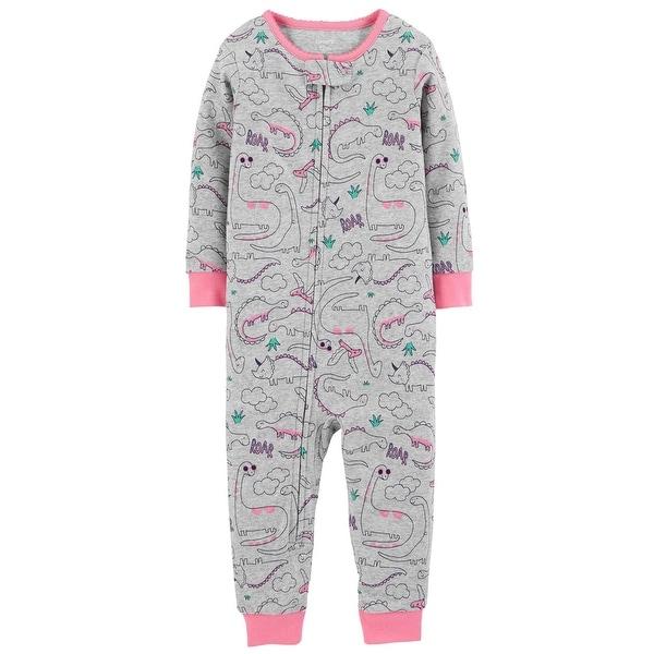 a5349e3b1 Shop Carter s Baby Girls  1-Piece Dinosaur Snug Fit Cotton Footless ...