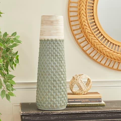 Green Ceramic Contemporary Vase 24 x 8 x 8 - 8 x 8 x 24