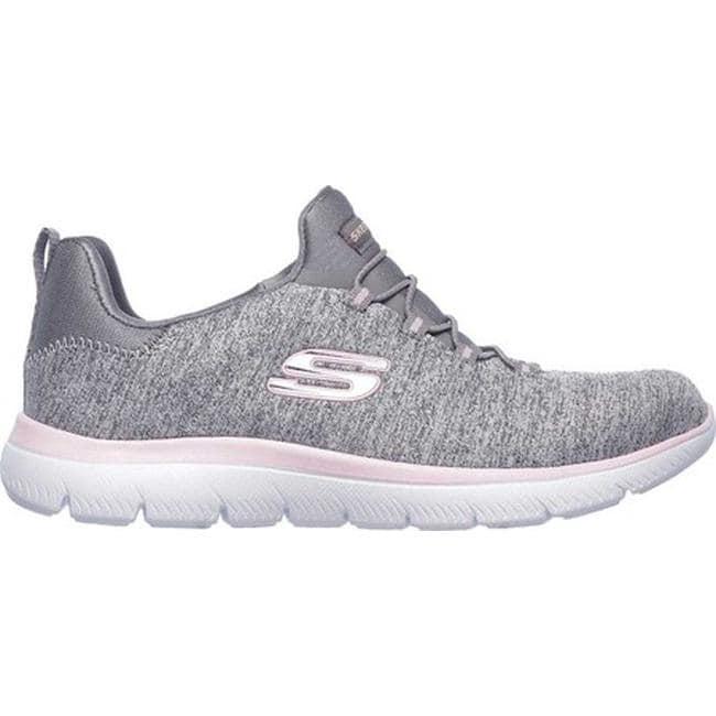 2651e0a81b40 Shop Skechers Women s Summits Quick Getaway Sneaker Gray Light Pink - Free  Shipping Today - Overstock - 20461735 - US Women s 5 (Wms 5) M (Medium) -  Medium