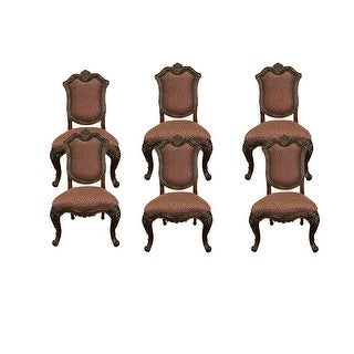 Marguax Side Dining Chair - Cushion Back Set of 6 - Neutral