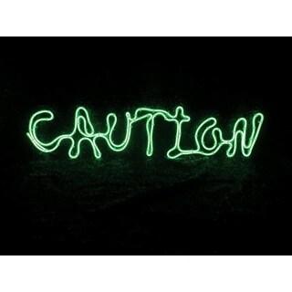 Sylvania V38701-71 Battery Operated Caution Window Halloween Decor Lighted, Green