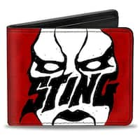 Sting Face Mask Scorpion Monogram Reds White Black Bi Fold Wallet - One Size Fits most