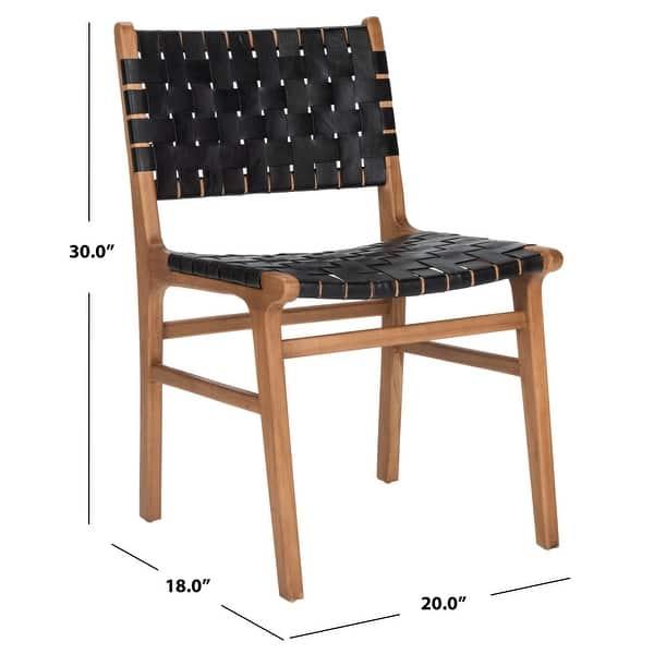 Safavieh Taika Leather Dining Chair Black On Sale Overstock 26517472