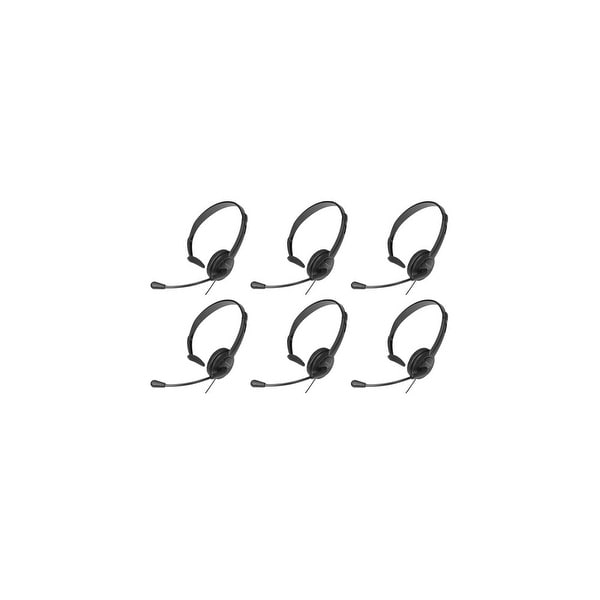 Panasonic KX-TCA400 (6 Pack) Over the head Hands-Free Headset with noise canceling mic