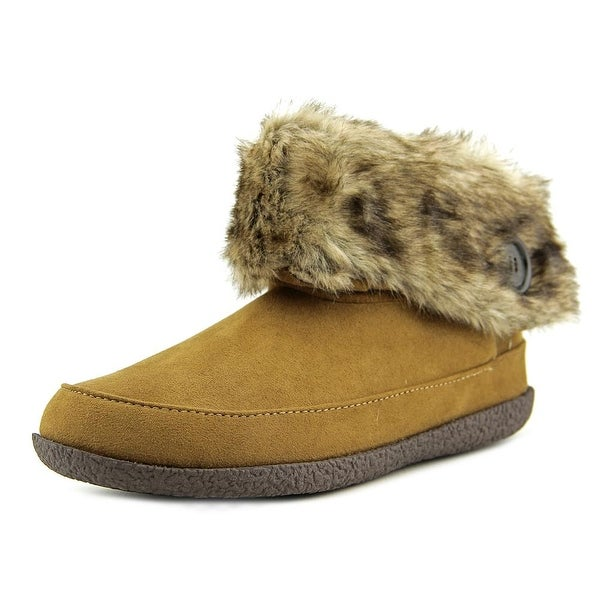 Daniel Green Odessa Women Moc Toe Suede Brown Slipper