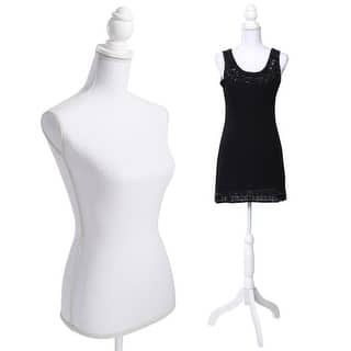 Costway White Female Mannequin Torso Dress Form Display W/ Tripod Stand https://ak1.ostkcdn.com/images/products/is/images/direct/a3830683e6fc0498ca303c632df324ccf64aedee/Costway-White-Female-Mannequin-Torso-Dress-Form-Display-W--Black-Tripod-Stand.jpg?impolicy=medium
