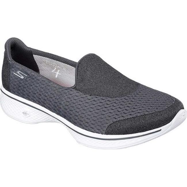 Skechers Women's GOwalk 4 Pursuit Slip On Walking Shoe Charcoal